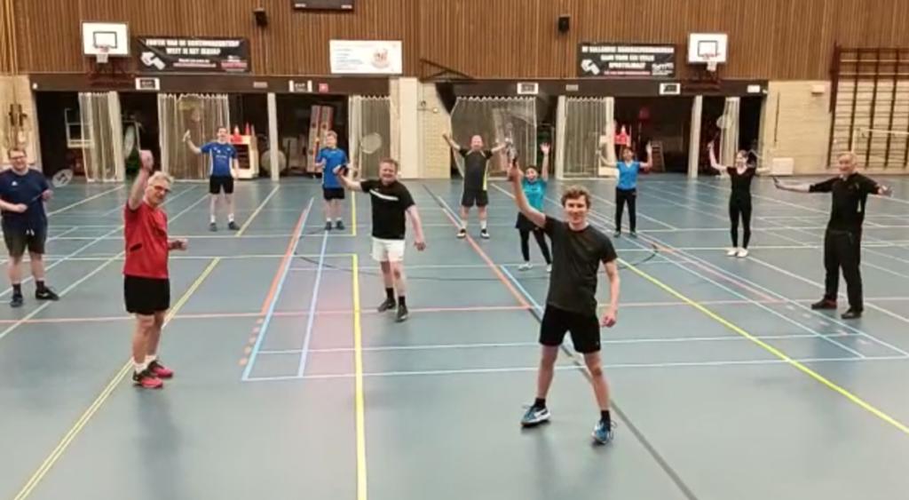 Eindelijk weer badmintonactie